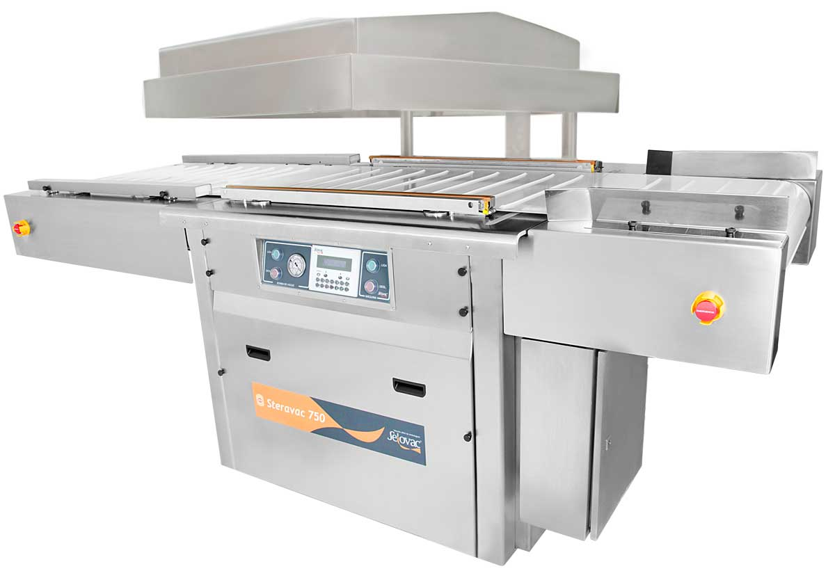 Máquina de Câmara Dupla para Embalar a Vácuo Steravac 750